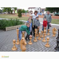 Шахматы большие, деревянные для школы