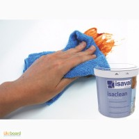 Краска моющаяся ISAVAL Изаклин (Испания) 1 л - стойкая к многократному мытью стен