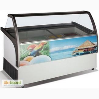 Морозильные витрины для мягкого мороженого (Холодильные) эконом и люкс