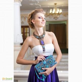 Колье ожерелье с ониксом и азуритами Киев Одесса Днепр Харьков Львов Запорожье