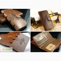 Мужское кожаное портмоне бумажник Bailini Long кошелек