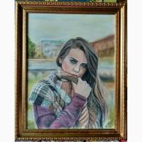 Картина автораНезнакомка-пастель 65х50
