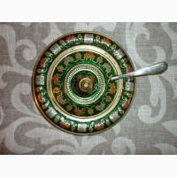 Икорница-паштетница из бронзы времён СССР производство Индия