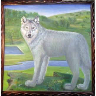 Продам картину Волк ( холст, масло 60х60 авторская работа) Харьков