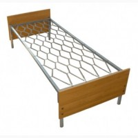 Кровать металлическая, спинка ДСП, 190х90