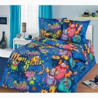 Монстры - яркое постельное белье для детей и подростков (100% хлопок)