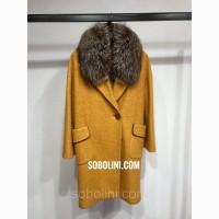 Примерка пальто с чернобуркой, размеры 42/44/46/48
