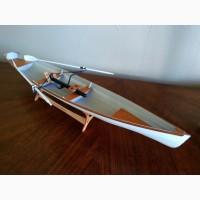 Модель деревянной лодки 1:8