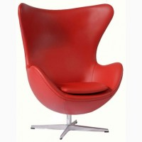 Бесплатно перешлем дизайнерское кресло Эгг красное черное коричневое белое