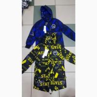 Стильная демисезонная куртка -парка для мальчиков -подростков рост 140 - 158 см