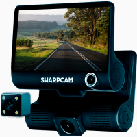 Sharpcam z7 авторегистратор, видеорегистратор. 3 камеры