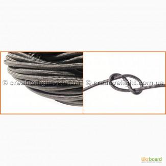 Провод для ламп Эдисона серый