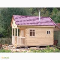 Строительство небольшого дачного дома из дерева