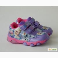 Кроссовки для девочек. с мигалками Мышонок арт.YW-2 фиолет.Эльза с 22-27р