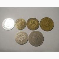 Монеты Туниса (6 штук)