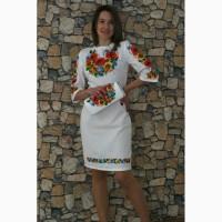 Вишите плаття Український букет-3