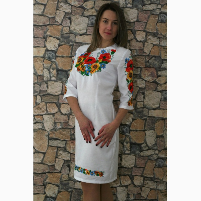 Вишите плаття Український букет-3 Вишите плаття Український букет-3 22094d0a3af79