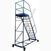 Лестница складская передвижная стальная, Драбина складська, драбина металева