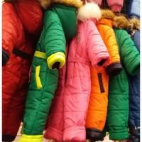 Детские зимние цельные комбинезоны, холофайбер, возраст 2-3 года