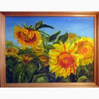 Продам картину Подсолнухи ( картон, масло 45х60 авторская работа) Харьков