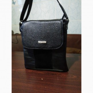 Мужская кожаная сумка-барсетка