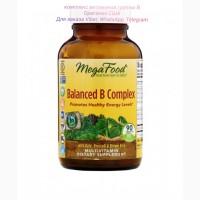 MegaFood комплекс витаминов группы В, витамин В, Мегафудс Balanced B complex 90 шт