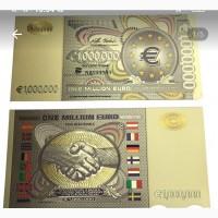 Сувенирная банкнота 1 миллион евро