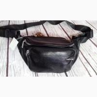Женская сумка на пояс. Бананка унисекс. Рюкзак. Большая поясная сумка кожаная. Б01