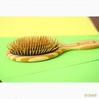 Расческа для волос из бамбука