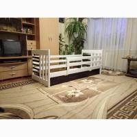 В Наличии! Детская кровать с бортиками и ящиками Роланд dв белом цвете