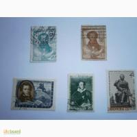 Продам марки 1937г - 100 лет смерти Пушкина и др