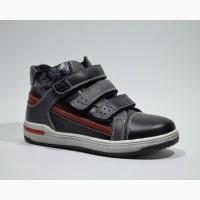 Демисезонные ботинки для мальчиков KLF арт.2062-1 black-red с 32-37 р