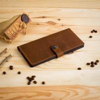 Мужской кожаный кошелек ручной работы Sherif. 100% Натуральная кожа