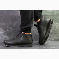 Кроссовки New Balance 754 Black теплые зимние с мехом черные