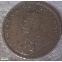 Монета Серебряная индийская рупия 1916 года