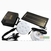Комплект світлодіодних ламп з акумулятором і сонячною батареєю GDLITE GD - 8006