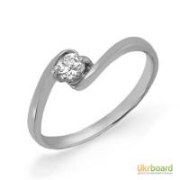 Золотое кольцо с бриллиантом 0,15 карат. НОВОЕ (Код: 13043)