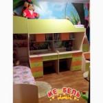 Детская двухъярусная кровать с двумя столами (ал3) Merabel