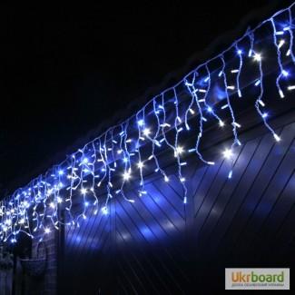 Гирлянда бахрома 3х 0, 5, световые гирлянды, праздничная подсветка
