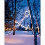 Гирлянда нить светодиодная, световые гирлянды, новогодняя подсветка
