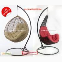 Подвесные кресла качели из ротанга