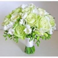 Свадебные букеты для невесты, бутоньерки для жениха