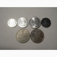 Монеты Китая (6 штук)