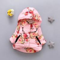 Куртка Весенняя- Осенняя для девочек с капюшоном (Новая) Плотные хлопковые