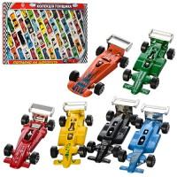 Набор металлических машинок коллекция гонщика