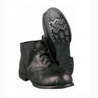 Ботинки утепленные кожаные рабочие гвоздевые