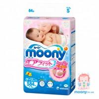 Японские подгузники MOONY DISNEY (S) 4-8 кг. 84 шт. с Диснеем