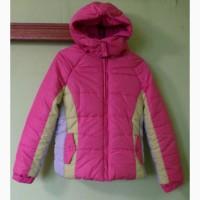 Куртка зимняя новая на девочку теплая с капюшоном на молнии и на липучке спереди из США