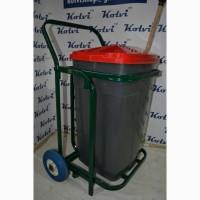 Тележка коммунальная уборочная универсальная с пластиковым баком на 90 литров