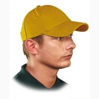 Кепка Люкс, 6-панельная, желтая